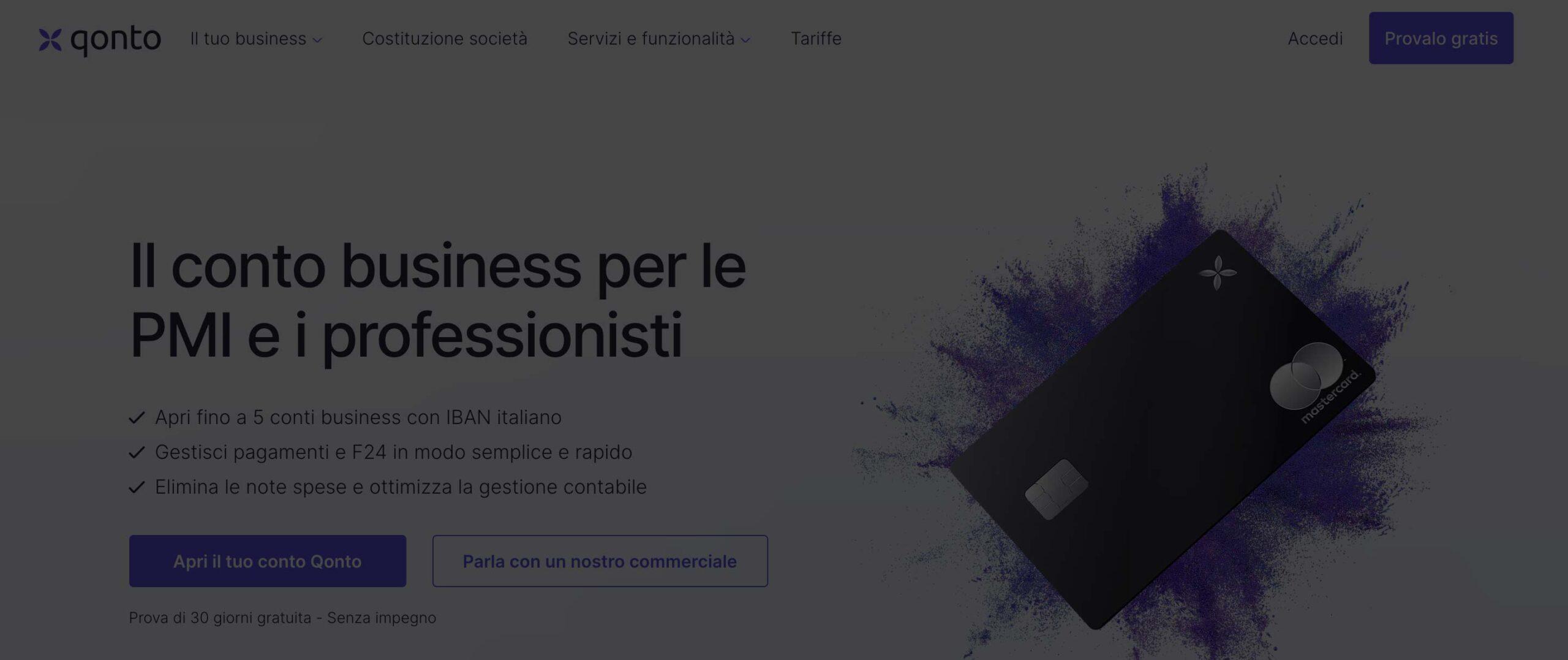 Miglior conto aziendale online innovativo – qonto recensioni